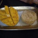 riz gluant coco et mangue fraîche