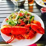 Lobster salad was lush