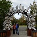 Delighted to get our Antler Archway photo!!!