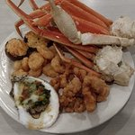 Expensive seafood buffet but tasty.  Servers willing to accommodate even though they try to clos