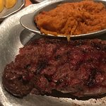 New York Strip and Sweet Potato Casserole with Coconut