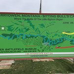 Map of Sitting Bull's Camp & Custer's Route