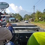 on the way up to Mt Merapi