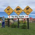 the big apple sign
