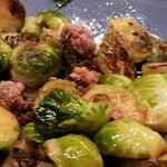 Brussels sprouts with chicory kimchee