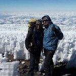 The Top of Mount Kilimanjaro Uhuru peak(5985m)
