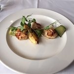 Scallops with pickled cucumber