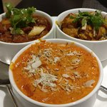 Luxury Butter Chicken, Hing Jeera Aloo and Cholley