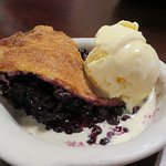Huckleberry pie with ice cream $9.99,Two Sisters Cafe, Near Babb, MT