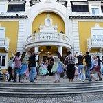 """Portuguese """"Arraial"""" party for a corporate group after a Lisbon tour."""