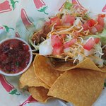 Taco plate. Bad Frog Cantina, St Mary, MT