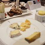 A very good selection of French and British cheese