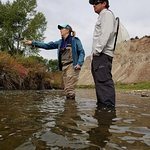 Flying for Brown Trout with guide Greg