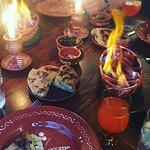 Chourico, Flatbread & Olives (Our sharer starter)