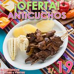 OFERTA de Anticuchos! S/19 de Lunes a Viernes durante Septiembre