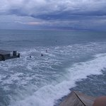 for surfing is this the place to be - very nice views from pier and Tiki bar is amazing