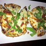 Flatbread: Prosciutto & Fig w/arugula, provolone, lemon oil