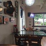 Quaint, small restaurant off the road.