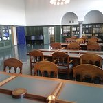 Library inside the Culture House.
