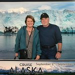 Here we are with the backdrop of Hubbard Glacier, which was the highlight of the Alaska cruise f