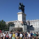 The tour group at the Royal Palace