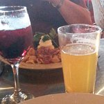 Beverages--red sangria and Thin Man Brewery Bliss