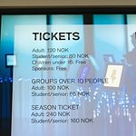 operating hours/ticket prices/info