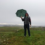wet & windy at Viking settlement