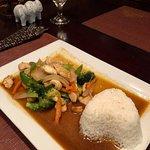 Cashew chicken lunch special at Tuptim Thai