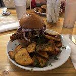 Larger burger plate
