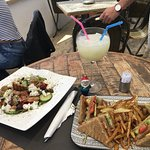 Greek Salad and a Club Sandwich