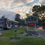 The tourist bus...the front desk will get you a free pass...avoid driving/parking in Banff