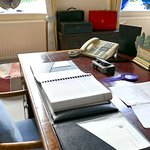 Heath's desk and despatch boxes