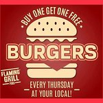 BOGOF on burgers every Thursday. T&C's apply