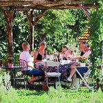 Winetasting in the garden