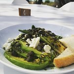 Green Salad with Chargrilled Leek, Feta, Capers and Avocado