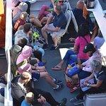 Passengers baording the ferry on Inis Oirr, Aran Islands.
