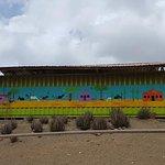 Mural painted by volunteers