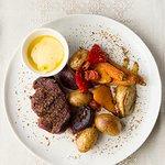 Grilled australian beef loin steak