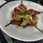 Bacon wrapped scallops. Yummy!
