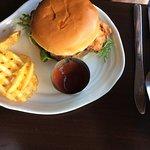 Crispy chicken burger.