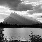 Vermillion Lakes view of Mount Rundle...getting all artsy