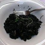 Squid ink and cuttlefish risotto