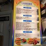 Lahore menu