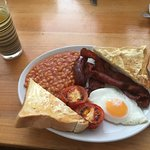"""A smaller £5 """"English"""" option for me this morning (not inc. the drink)."""