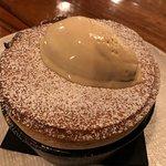 Passionfruit Soufflé with coconut sorbet