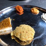 Clicked this pic of Podi idly slice as soon as I tasted. Out of the world experience