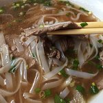 Pho's soup looks not authentic.