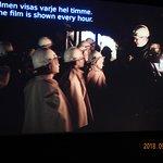 Se gärna filmen från gruvan i gruvmuseet ovan jord (30 min) när övriga går ner dit.