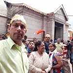 selfie outside the mandir